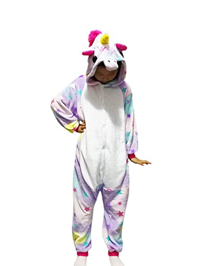 kids pajamas animal onesie unisex unicorn halloween costume children cosplay cute sleepwear star star 115