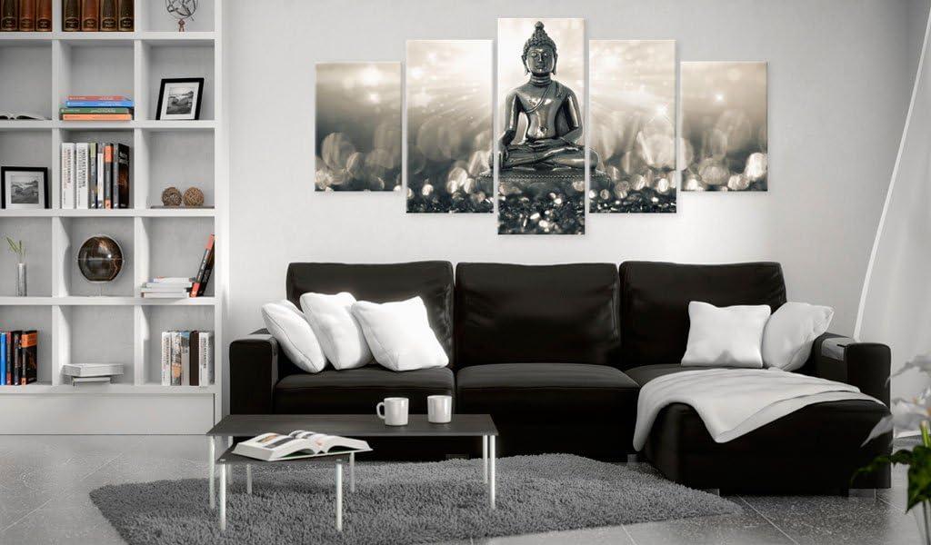 B/&D XXL murando Impression sur Toile intissee 200x100 cm cm 5 Parties Tableau Tableaux Decoration Murale Photo Image Artistique Photographie Graphique Bouddha h-A-0053-b-o