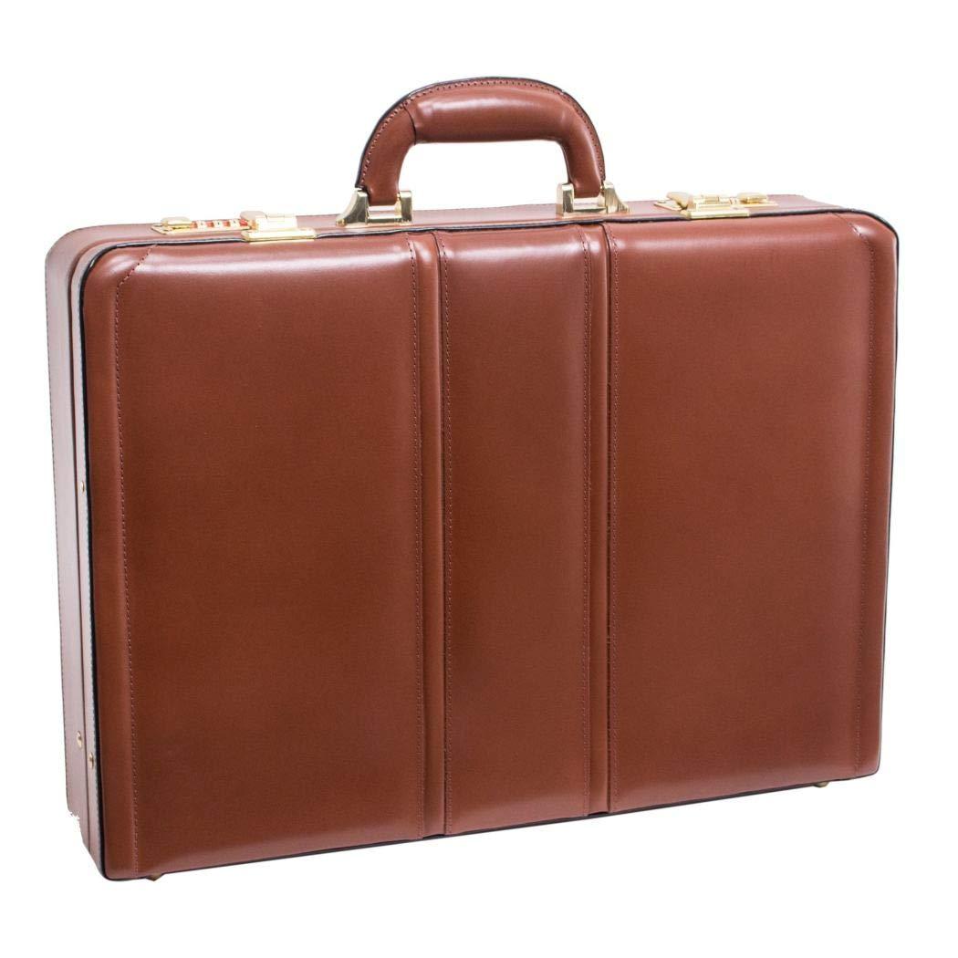 PureレザーAttachã弁護士ブリーフケース、Amazing、最新ロックメカニズム。、ブラウン色、スタイリッシュでモダンなデザイン、ブラウントープカラー、ソリッドパターン   B073TPBM15