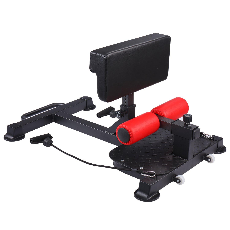 K KiNGKANG Adjustable Sissy Squat Machine Fitness Equipment Home Leg Exercise; Black