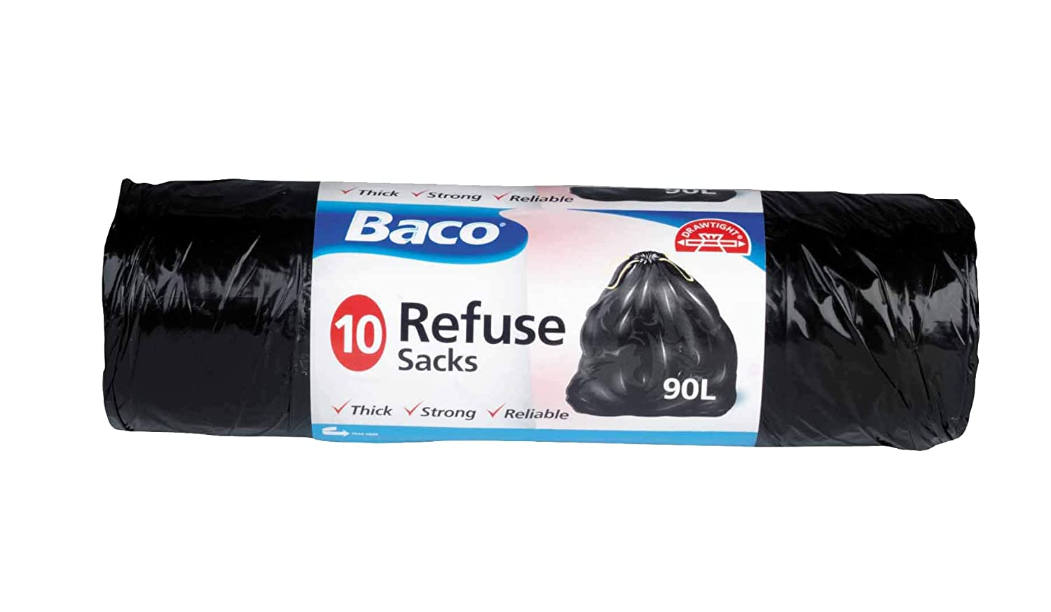 Baco 90L Refuse Sacks x10 Strong Thick Reliable