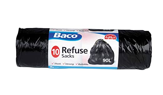 Jardín basura bolsas de basura Sacos de basura de grosor resistente fiable 90 litros rápido Post: Amazon.es: Industria, empresas y ciencia