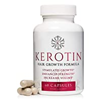 Kerotin Hair Growth Vitamins for Natural Longer, Stronger, Healthier Hair - Hair Loss Supplement Enriched with Biotin, Folic Acid, Saw Palmetto - Hair Vitamins to Grow Thick Hair - 60 Pills (1)
