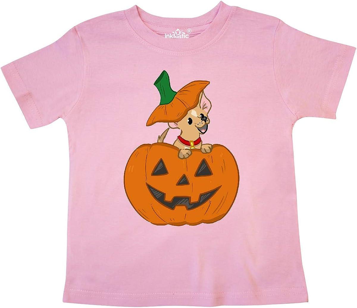 inktastic Halloween Chihuahua Pumpkin Toddler T-Shirt
