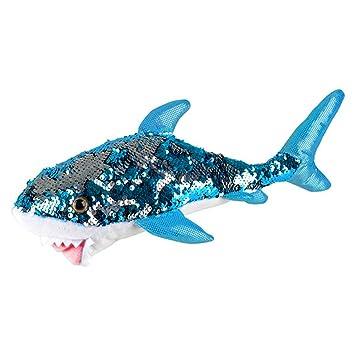 Amazon Com Sequinimals Sequin Plush Great White Shark Large