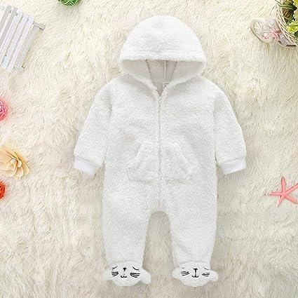 EffulxS - Pelele de Invierno para bebé, con Capucha, Manga Larga, con Cremallera