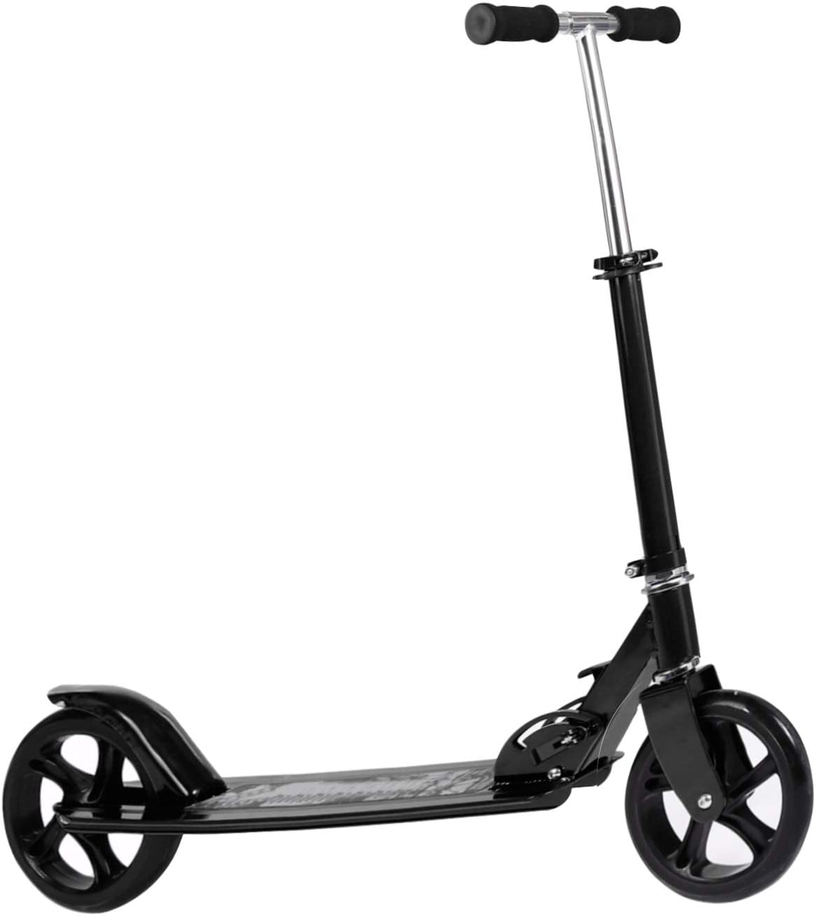 Kids Adult Scooter with 3 Seconds Easy-Folding System, 220lb Folding Adjustable Scooter Without Disc Brake and 200mm Large Wheels