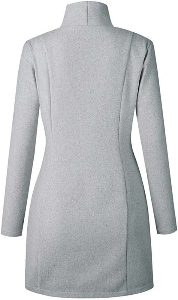 Ladies Coat Womens Irregular Full-Zip Coat Lapel Outwear Casual Long Sleeves Tops Solid Color Long Sleeve Fashion Tunic Tops