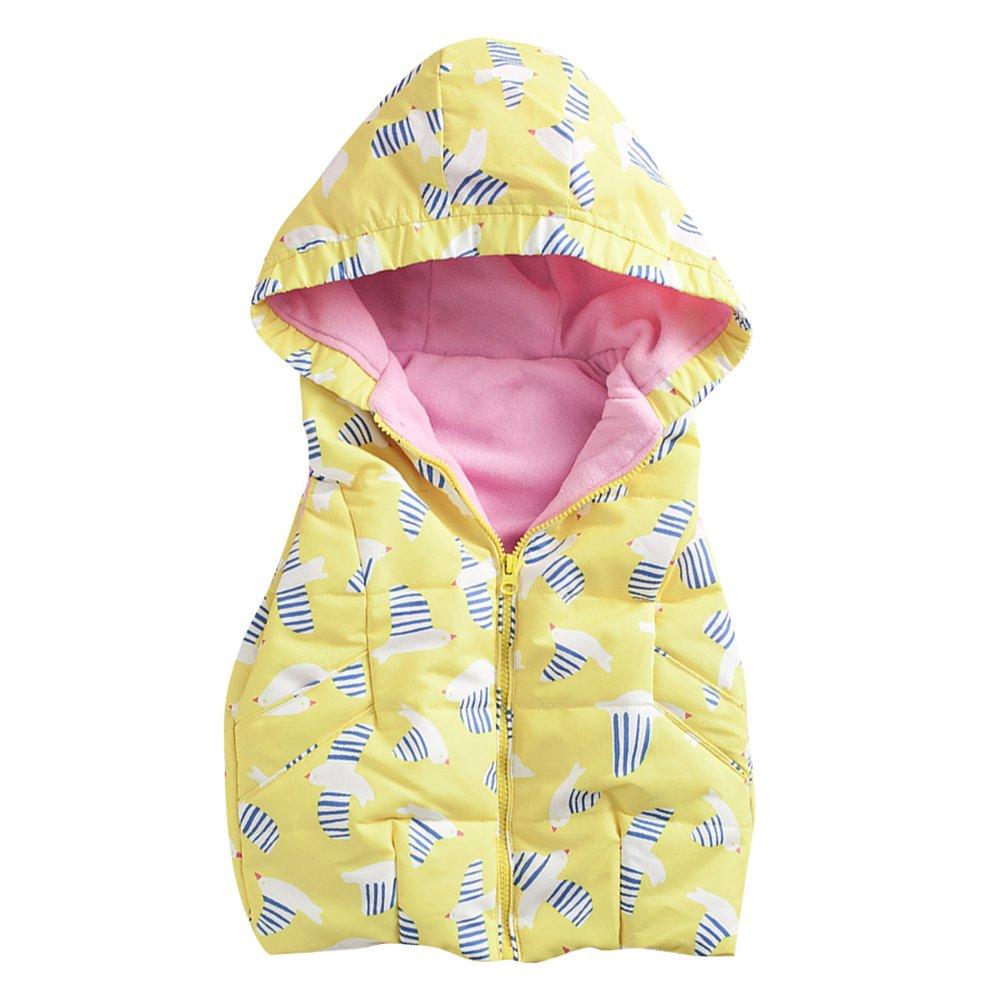 Baby Weste Ultraleichte Winterjacke Junge Mädchen Ohne Arm Gilet Bodywarmer mit Kapuze Blauer Regenbogen/2-3Y Juleya Network technology Ltd