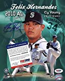 Felix Hernandez Signed 8x10 Photo Mint Seattle Mariners Cy Young Auto - PSA/DNA Authentic