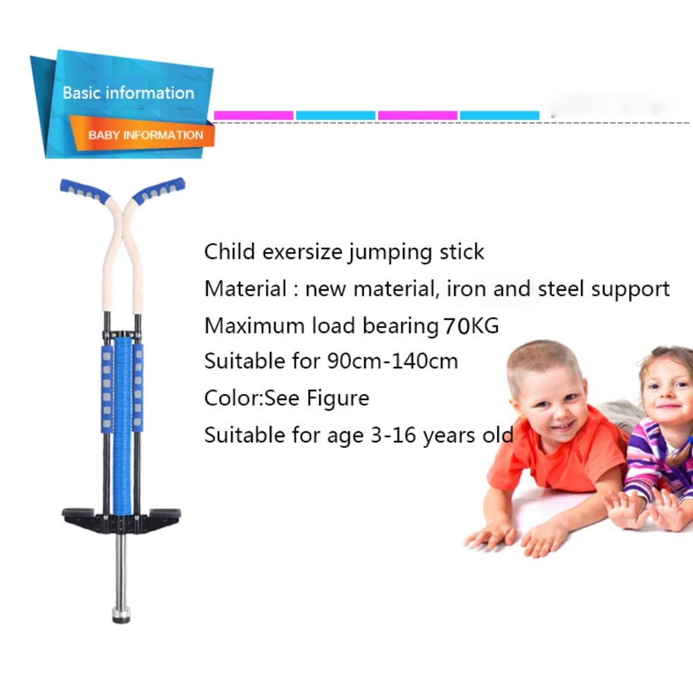 Pogo Stick Spring Rod Bounce Stick Anti-Slip Foam Handle for Children Adults Outdoor Play,Red by SVNA (Image #7)