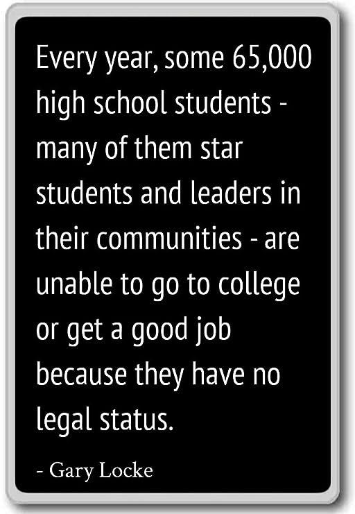 Cada año, unos 65.000 estudiantes de secundaria - m. - Gary Locke ...