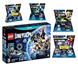 Lego Dimensions Time Traveler Starter Pack + Doctor Who Level Pack + Cyberman Fun Pack + Back To The Future Marty McFly Level Pack + Doc Brown Fun Pack for Nintendo Wii U Console