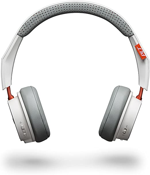 Amazon Com Plantronics Backbeat 500 Wireless Bluetooth Headphones Lightweight Memory Foam Headband And Earcups Compatible With Iphone Ipad Android And Other Smart Devices White