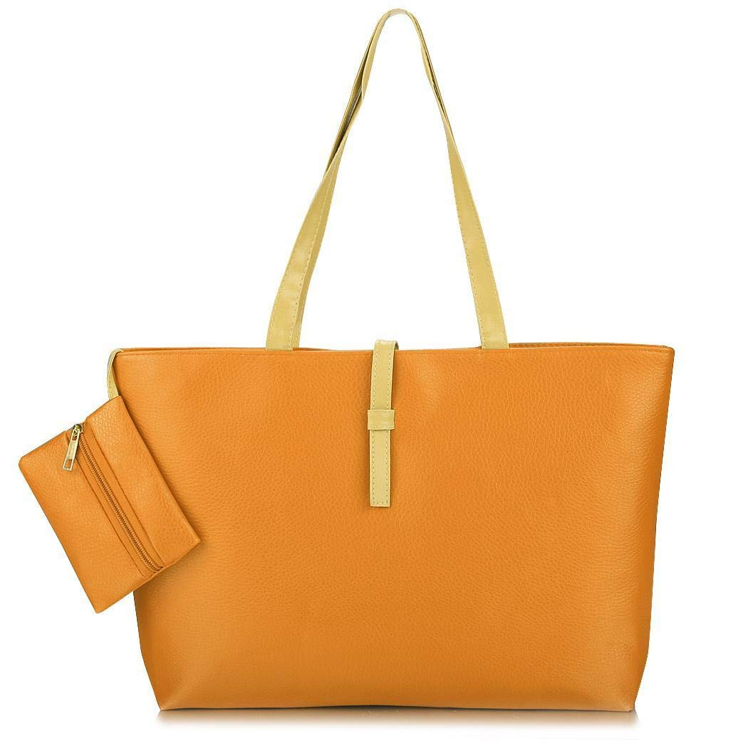 d46993347c25 Amazon.com: Dalina Women's Solid Shoulder Bags Synthetic Leather ...