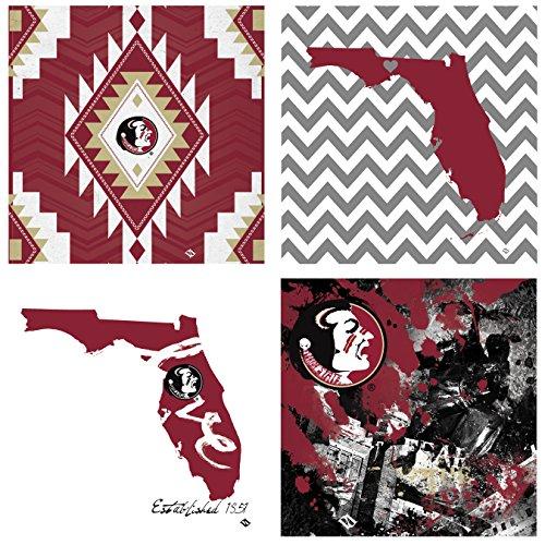 Thirstystone 4-Piece Florida State University Spirit A/4 Coaster Set