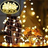 50 LED Cadena Luces con 8 Modos,Farolillos Luz Decorativos con Mando a Distancia IP65 Impermeable Iluminación para…