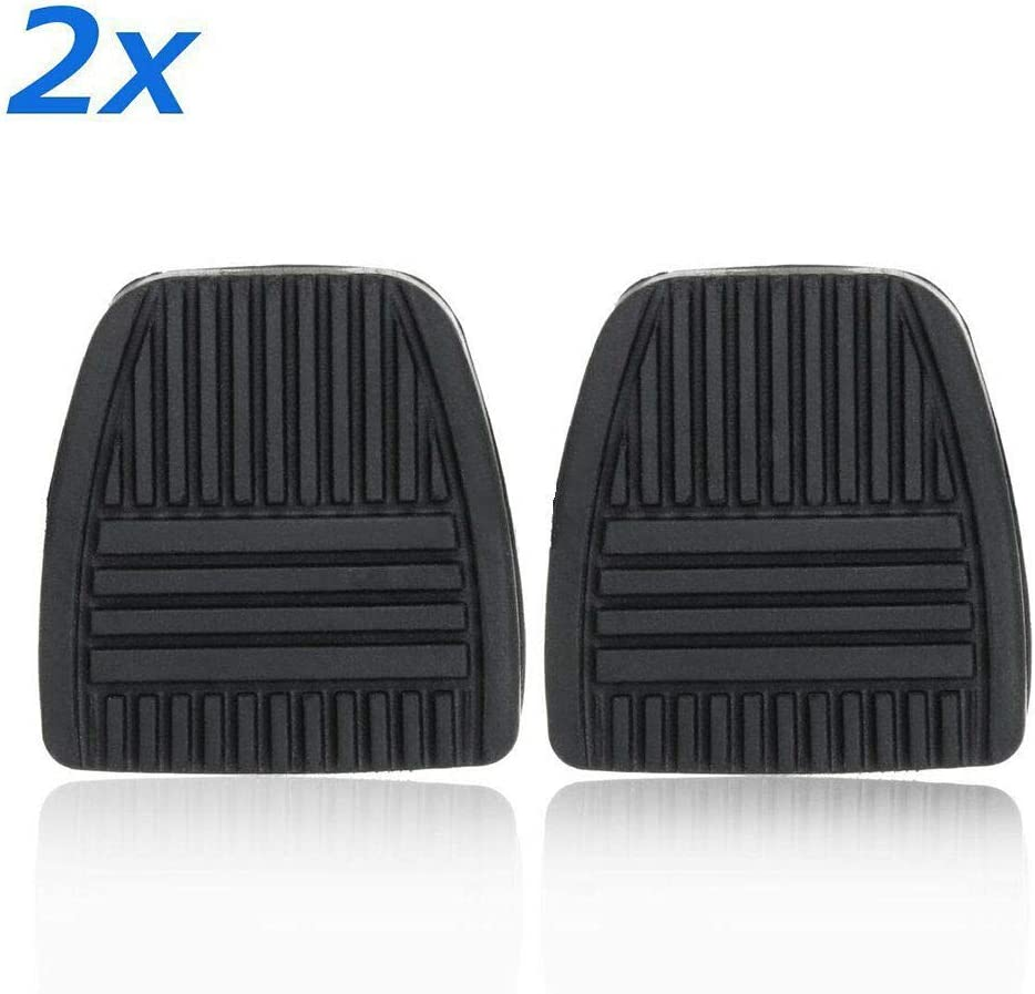 Raybre Art/® 1 Pair Black Brake Pedal Pad Antislip Clutch Rubber Cover For Toyota 31321-14020