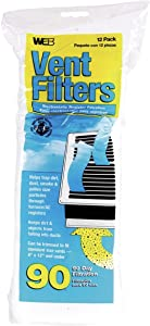 "Web Products WVENT 4"" x 12"" Floor Register Vent Filter 12 Count"