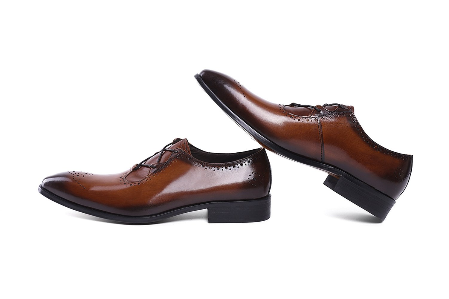 Felix Chu Men's Italian Designer Luxury Perfect Genuine Calf Leather shoes, Brown, 9 D(M) US by Felix Chu (Image #6)