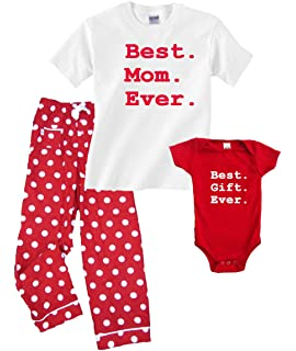 Best Mom Ever Pajama Pant Set - Best Gift Ever Baby Onesie (SOLD SEPARATELY)