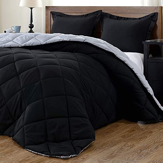 Amazon.com: downluxe Lightweight Solid Comforter Set (King) with 2