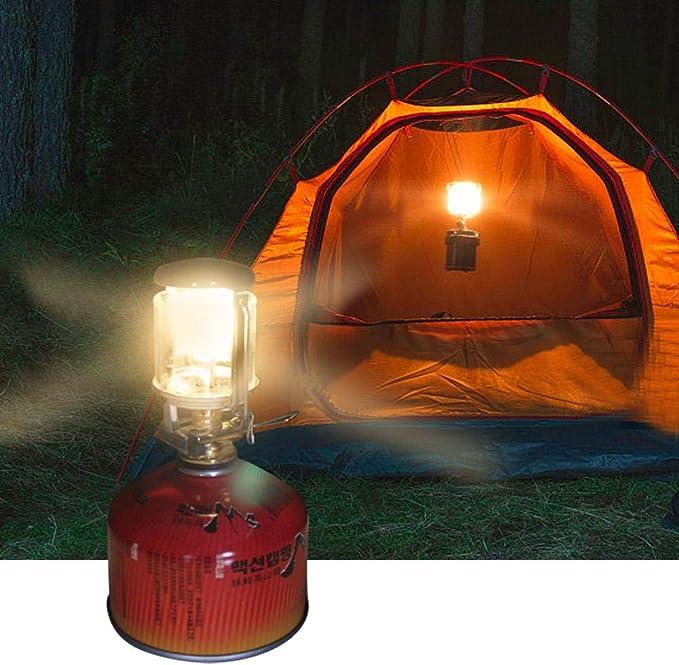 Lanterne de Camping Portable Lampes /à gaz Mini Lampe de Tente Lampe de Verre Suspendue Torche avec chemin/ée Suspendue Poids l/éger Lumi/ères de Camping pour tentes p/êche en Plein air randonn/ée Camping