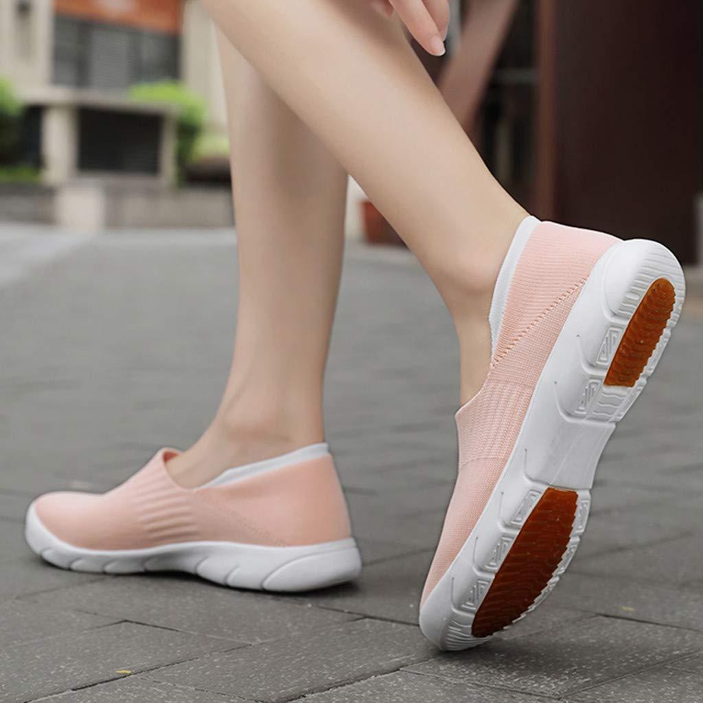 YUTING Zapatillas Deportivas2019 Zapatos de Deporte Running Comodas Vestir Se/ñora Casual Calzado de Plano Damas S/ólido Sin Cordones Talla Grande