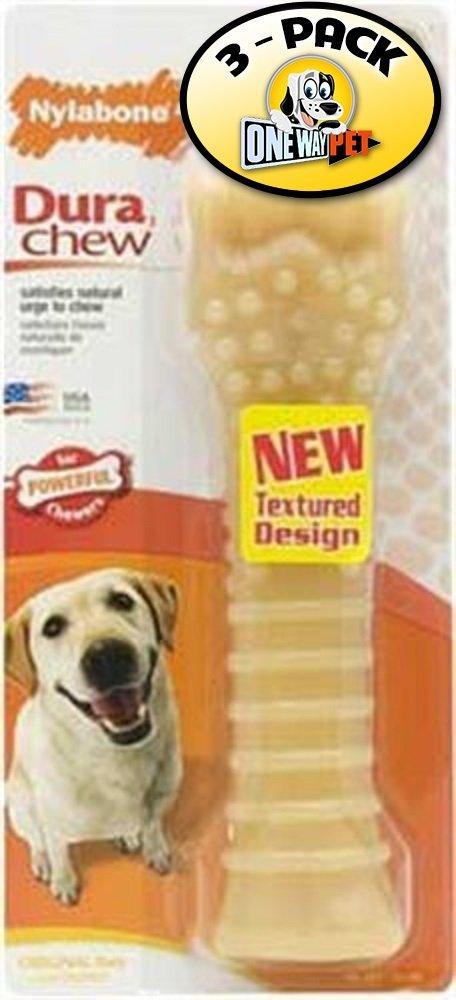 Nylabone Dura Chew Souper Original Flavored Bone Dog Chew Toy (Pack of 3)