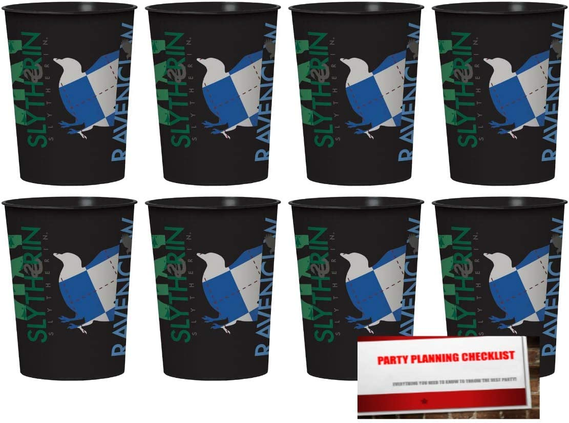 Harry Potter 16oz Plastic Favor Cups 8 Pack Plus Party Planning Checklist by Mikes Super Store