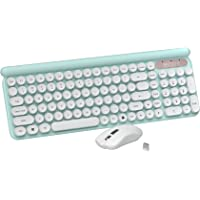 Wireless Keyboard Mouse Combo, 2.4GHz Wireless Connection, Quiet-Typing Laptop Keyboard and Mouse for Desktop/Laptop/PC…