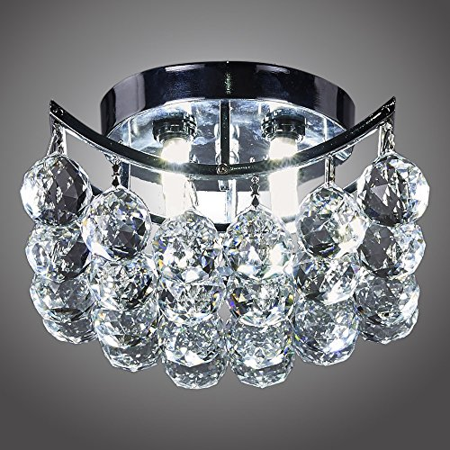 MonaLisa Gallery Crystal Ball Chandeliers Ceilling Flush Mount Pendant Light Fixture SML-4010-4 W8xH8 Inch