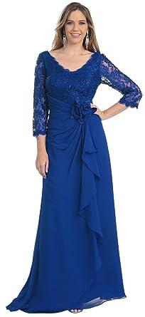 Mother Of The Bride Formal Evening Dress 813 Medium Royal Blue
