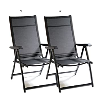 Amazon.com Heavy Duty Durable Adjustable Reclining Folding Chair Outdoor Indoor Garden Pool (2) Kitchen u0026 Dining  sc 1 st  Amazon.com & Amazon.com: Heavy Duty Durable Adjustable Reclining Folding Chair ...