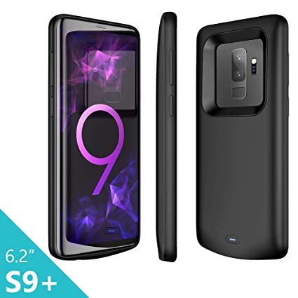 Elebase Galaxy S9 Plus Battery Case, Galaxy S9 Plus 5200mAh Portable External Backup Charging Case Rechargeable Impact Resistant Power Charger for ...