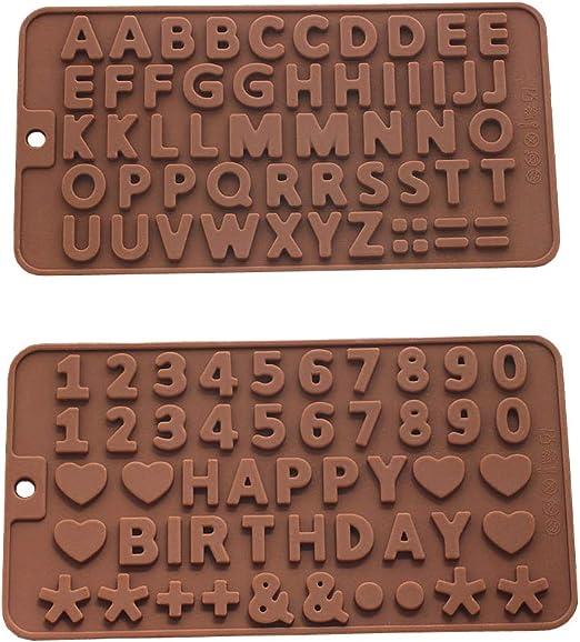 Silicona a a la Z letras + feliz cumpleaños/números/símbolos ...