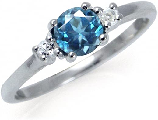 Genuine Blue Topaz 925 Sterling Silver Celtic Knot Solitaire Ring 1.5ct
