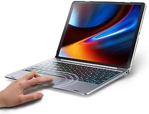 Keyboard Case for iPad 10.2 2019, iPad Air 10.5 2019, iPad Pro 10.5 2017 – Touchpad Keyboard Compatible with iPad 7th Generation/iPad Air 3 – Backlight Keyboard for Tablet (Gray)