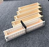 Adjustable Wood Soap Loaf Molds Lot of 4 and Multi Slot Soap Cutter 5 - 6 lbs each Outlasts Silicone