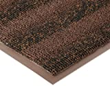 Notrax Vinyl 139 Boulevard Entrance Mat, for Upscale Entrances, 2' Width x 3' Length x 3/8'' Thickness, Brown