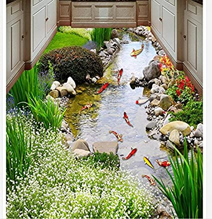 Amazon com: 150cmX105cm 3d wallpaper waterproof 3d floor