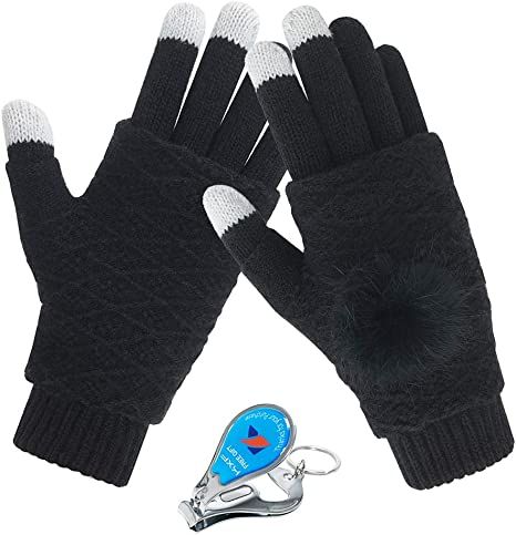 Touch Screen Gloves Mittens Women Men Winter Cycling Outdoor Elastic Creative UK