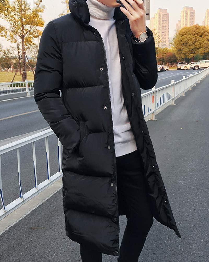 Yonglan Hombre Largo Abajo Chaqueta Invierno Acolchada Cazadora Plumas Abrigo Parka Plus Size