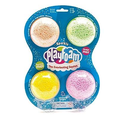 Learning Resources- Espuma para Juegos PlayFoam con Brillos (Set de 4), Color (EI-1910): Juguetes y juegos