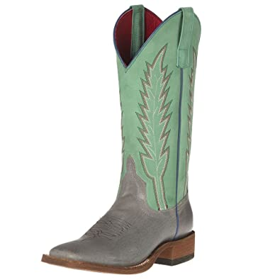 Anderson Bean Womens Macie Bean Gray Sinsation Turquoise Buck Stop Boots