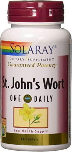 Solaray – Guaranteed Potency St. John s Wort One Daily 900 mg. – 60 Tablets