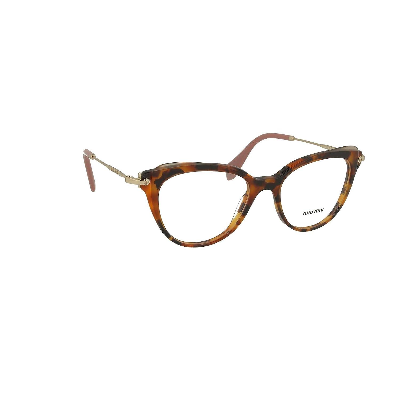 c873f994b6fb0 Miu Miu MU 01QV - VX81O1 Eyeglass Frame CORE Collection Havana Transparent  Brown w Clear Demo Lens 50mm at Amazon Men s Clothing store