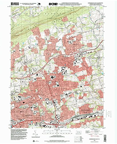 Harrisburg East PA topo map, 1:24000 scale, 7.5 X 7.5 Minute, Historical, 1993, updated 1999, 27 x 22 IN - - South Hills Village Pa