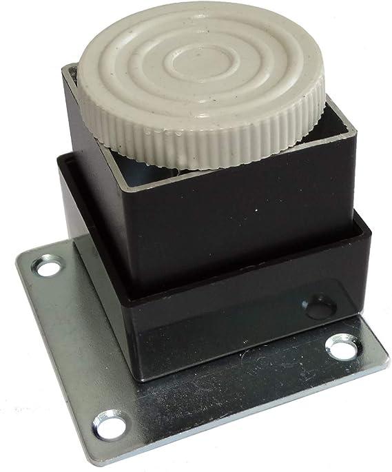 4 x M/öbelf/ü/ße aus Metall verstellbar 40//40 mm H50 mm Schwarz mit Montageplatte C42513 Aerzetix