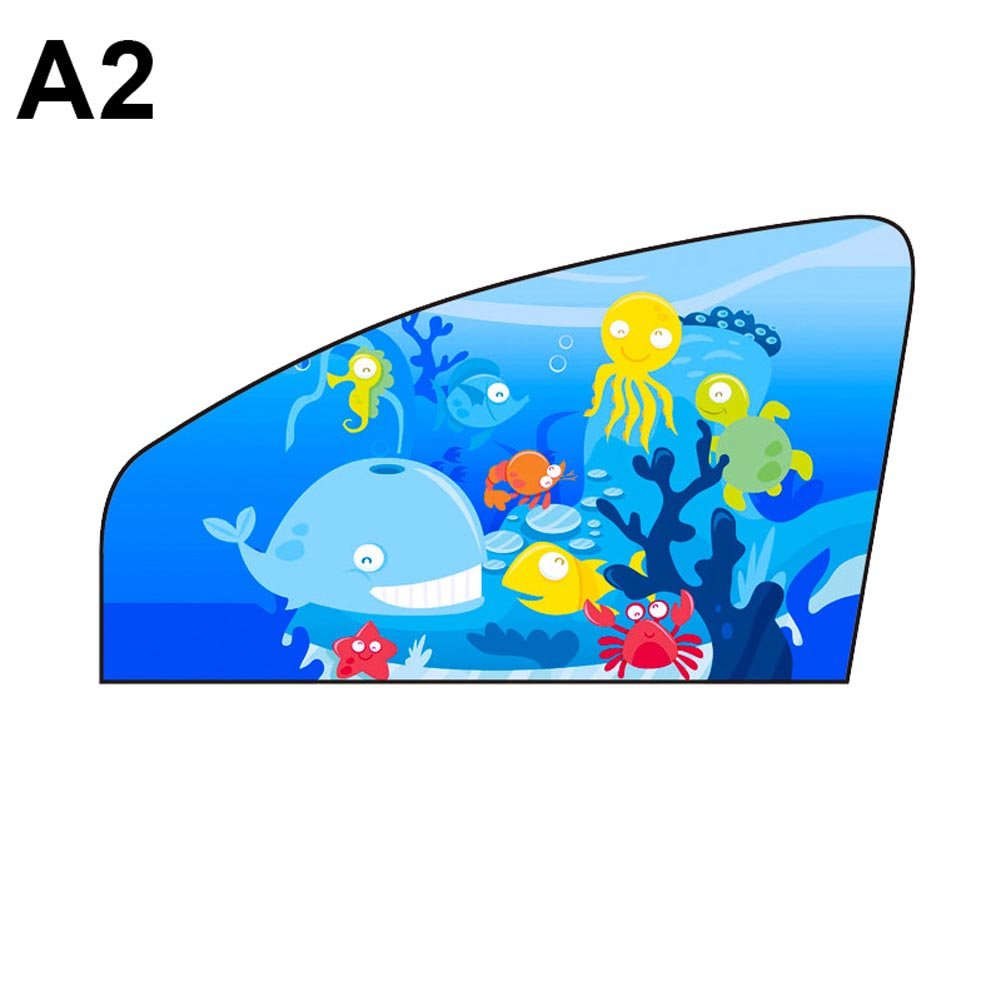 Alftek Universal Car Sun Shade Magnetic Curtain Cartoon Children Protector Window Sunshade Cover